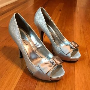 Silver Sparkle Dress Heels size 8.5